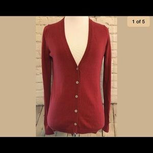 Old Navy women's XS red cardigan sweater